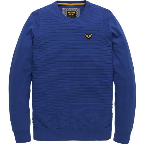 COTTON INDIGO R-NECK PULLOVER