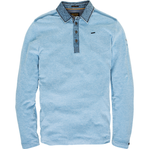 TWO TONE LONGSLEEVE  POLO