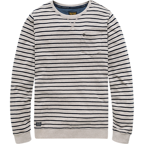 STRIPE ROUND NECK SHIRT