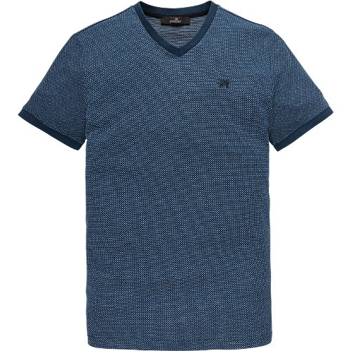 v-neck jacquard T-shirt