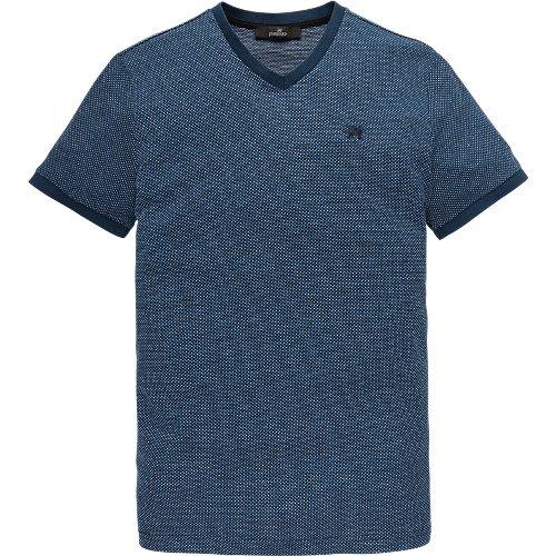 v-neck jacquard T-shirt