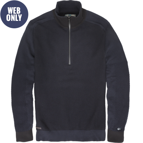 HALF ZIP COTTON PULLOVER