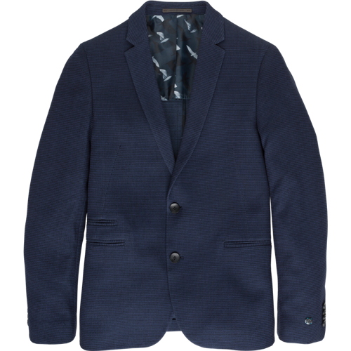 KNITTED JACQUARD BLAZER