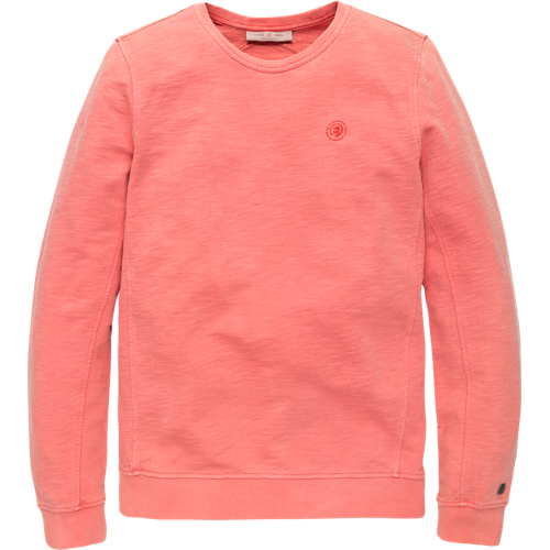 Crewneck sweater washed look