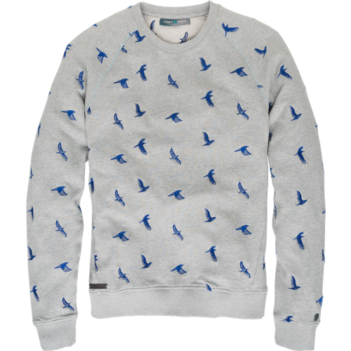 BIRD EMBROIDERY SWEATER