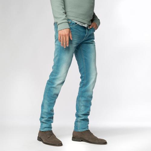 Sea Green Riser Slim Jeans